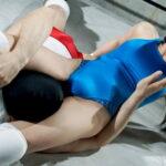 佐藤ののか&美波沙耶が覆面男圧倒的にボコるミックスプロレス!